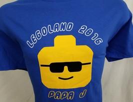 Legoland Papa J 2016 Blue Yellow Graphic T Shirt 100% Cotton XL - $16.98