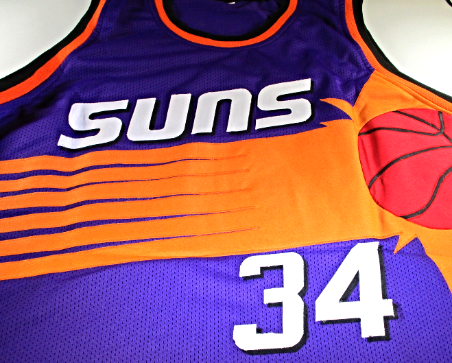 CHARLES BARKLEY - NBA HALL OF FAME - HAND SIGNED PHOENIX SUNS CUSTOM JERSEY  COA