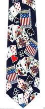 US Playing Cards Mens Necktie Game Bridge Poker Canasta Card Blue Neck T... - $15.79