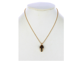 Mardi Gras Drink Crystal Stone Bead Chain Charm Necklace - $12.95