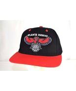 Atlanta Hawks Black/Red Baseball Cap Snapback - £18.55 GBP