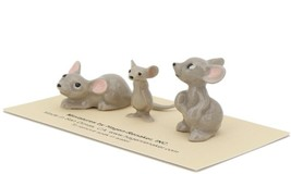 Hagen Renaker Miniature Mouse Family 3 Piece Set Mama Papa and Brother image 1