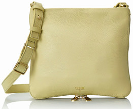 FOSSIL® All Leather Crossbody Bag- Light Green - $79.90