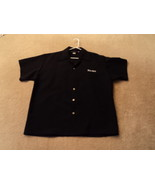 LIKE NEW Johnny Suede Lounge Black Shirt Size L - $38.99
