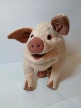 "Folkmanis Puppet Pig Full Body Hand Plush Stuffed Animal Toy 11"" Large Pink Pig - $17.81"