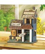 Birdhouses Adorable Bass Lake Lodge Fishermen Welcome Bait Shop Wood Bir... - $20.59