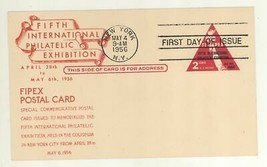 1956 Scott #UX44 FIPEX Postcard First Day Cover! C Stephen Anderson FDC - $5.99