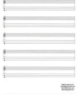 Blank Appalachian Dulcimer Tab/Standard Notation Sheets/Set of 8 Sheets - $6.99