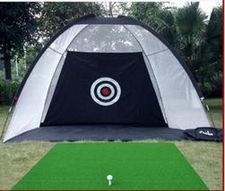 Indoor golf practice net Golf swing exerciser golf driving range two col... - $117.99