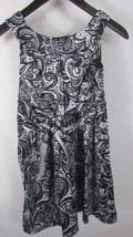 Girl's Ruby Rox 14 black white abstract paisley party dress above the knee - $12.86
