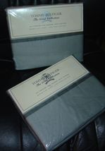 TOMMY HILFIGER~PELHAM Gray Queen 2-Flat Sheet Set~NEW - $49.99