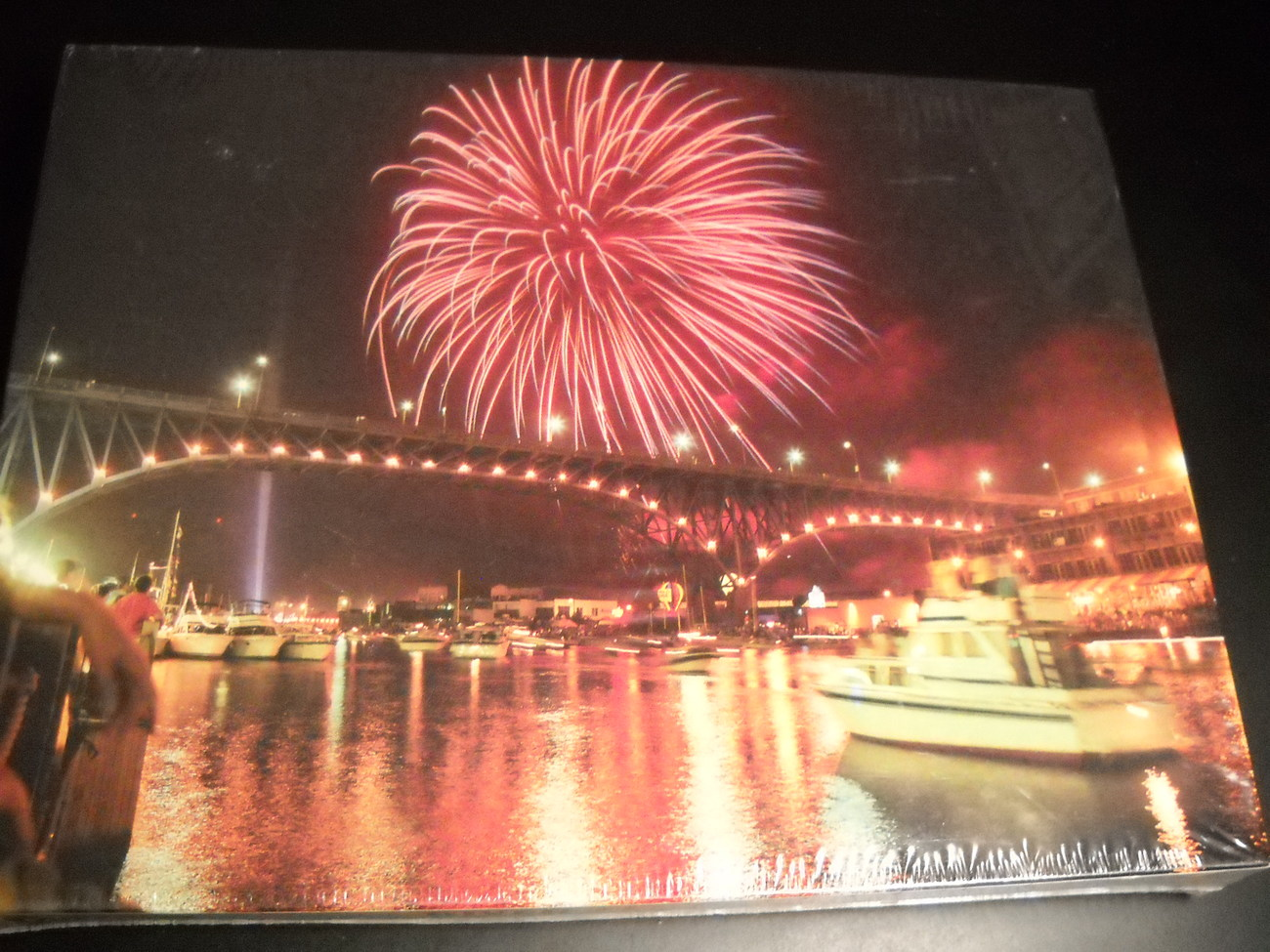 Jigsaw puzzle burrows bros riverfest cleveland mort tucker sealed 08