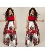 Blue Red Womens Summer  High Waist Floral Maxi Long Party Beach Dress Pl... - $18.99