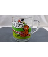 "VTG McDonalds 1978 Jim Davis Garfield Comic Glass Coffee Mug Cup 3.5"" - $19.01"