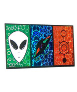1997 NEW RARE Xeno Alien, Spaceship Saucer Sticker Decal Car Laptop Wind... - $12.95