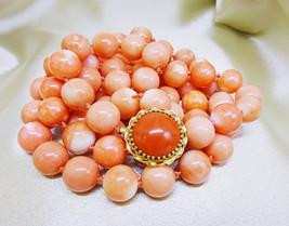 "Estate Genuine Pink Rosa Skin Coral Necklace, 14k Gold Clasp, 36"" Opera Length - $3,600.00"