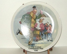Csatari Grandparent Collector Plate 1981 Skating Lesson - $8.00