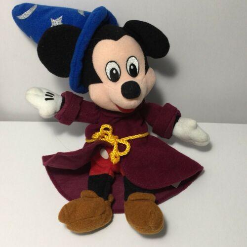 "Disney Fantasia Sorcerer Mickey Plush 9"" Stuffed Animal Bean Bag Toy Wizard image 2"