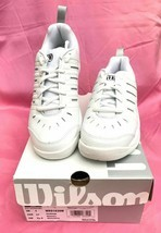 New Wilson Challenge Women's Tennis Shoes White/Silver - SIZE 5.5 - £21.77 GBP