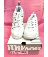 New Wilson Challenge Women's Tennis Shoes White/Silver - SIZE 5.5 - $29.70