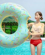 Swim About Large Donut Swim Ring Tube Pool Inflatable Floats for Adults (Mint) image 6