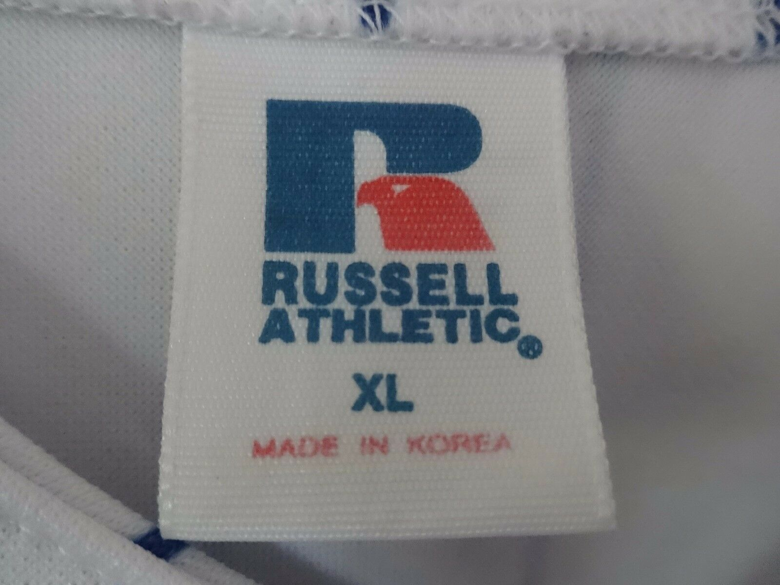 Vtg Russell Athletic New York Mets Premium Pin Stripe Button Sewn Jersey Men XL