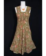 BOHO HIPPIE VTG INDIA GAUZE SUN DRESS PAISLEY XS XXS - $19.99