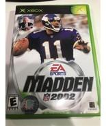 Madden NFL Football 2002 (Microsoft Xbox, 2001) Used Complete Original - $9.74