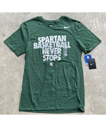 Nike Michigan State Spartans Basketball Men's T-Shirt Size Medium Green ... - $14.85