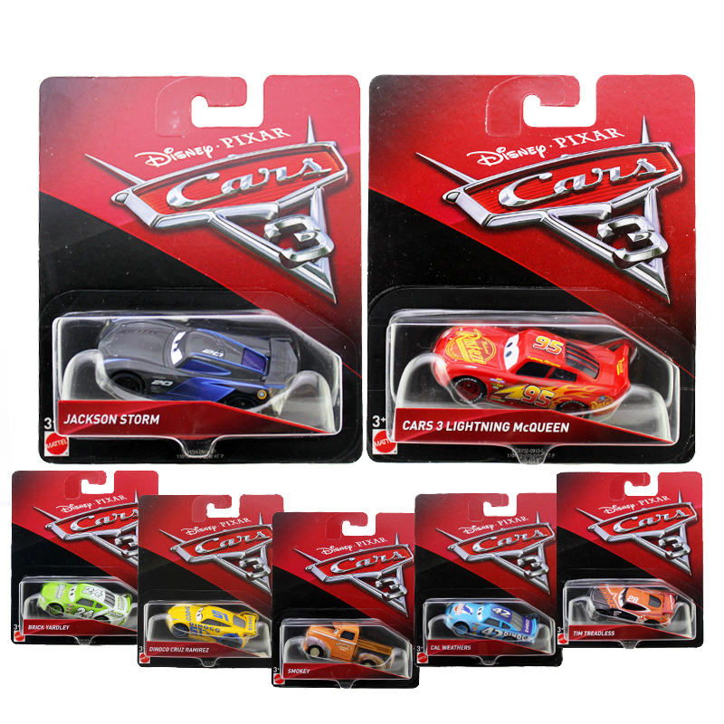 disney pixar cars 3 mcqueen jackson storm metal alloy model cars gift for kids cars. Black Bedroom Furniture Sets. Home Design Ideas