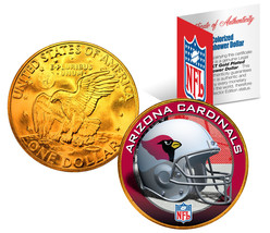 ARIZONA CARDINALS NFL 24K Gold Plated IKE Dollar US Coin * NFL LICENSED * - $9.85
