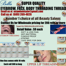 1000 X Eyebrow threading thread BELLA FREE SHIP USA UK $9 retail each 10... - $1,009.00