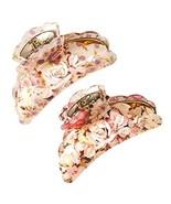 Set Of 2 Japenese Headwear Hair Clips Fashion Flower Clips Hair Grip Pur... - $19.89