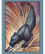 """Stalking Panther  Fine art Giclee canvas 12"""" x 18"""" - $55.00"""