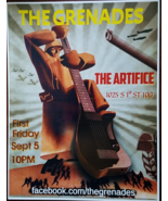 """THE GRENADES - The Artifice 1025 S 1st 100 Promo Poster 11"""" x 14-1/2""""   - $4.95"""