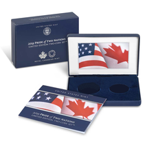 2019 Pride of Two Nations Silver 2pc.Set U.S Set BLUE BOX NO COIN PLUS C... - $7.95