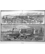 CHICAGO Illinois - 1883 German Print - $16.20