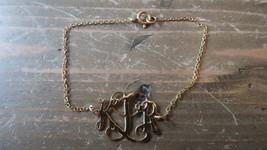 Vintage 12k Gold Filled KLD Bracelet 7.5 inches - $19.79