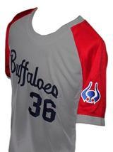 Masato Yoshi #36 Kintetsu Buffaloes Japan Baseball Jersey Grey Any Size image 3
