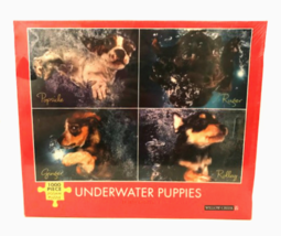 Jigsaw Puzzle Underwater Puppies 1000 Pieces by Willow Creek Made in USA... - $23.76