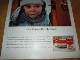 Campbell's Soup Little Girl In Winter Coat and Snow Print Magazine Ad 1965 image 3