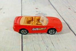 Matchbox 1999 Ford Mustang Convertible Subway Promo Car Toy Diecast - $4.94