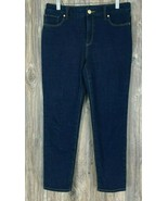 "Chicos ""The So Slimming"" Girlfriend Ankle Jeans Dark Blue Size 0.5 (Size 6) - £14.42 GBP"