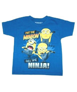 Despicable Me 2 Boys Minions T-Shirt Full Time ... - $9.59