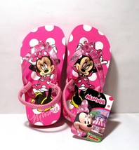 NEW Minnie Mouse Flip Flops Sandals TODDLER Size SMALL 5 6 Pink KN154 - $14.75