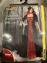 Spirit Costumes Victorian Vampiress Adult Plus Size W Choker, Dress, Hoopskirt - $29.69