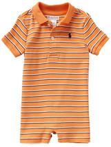 Ralph Lauren Baby Boys Striped Cotton Polo Shortall - $26.00