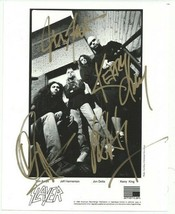 Slayer Band Group Signed Photo 8X10 Rp Autographed Jeff Hanneman + All Members - $19.99