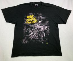 Bad Company Here Comes Trouble Men/'s Black T-Shirt Size S M L XL 2XL 3XL