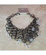 Brand New Metal Ring Statement Necklace - $9.99